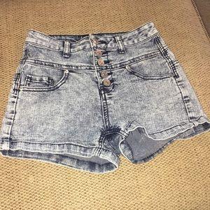 Delia's acid wash shorts